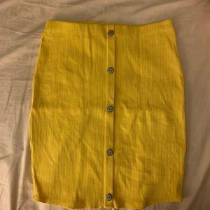 Yellow skirt fashion nova